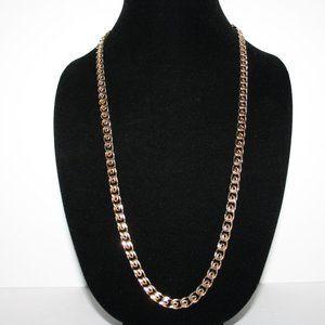 "Vintage gold tone chain necklace 29"""